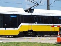 Das Bahnnetz erweitert in Dallas Stockfoto