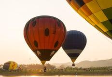 Das Ballon-Rennen Stockfotografie