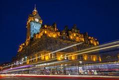 Das Balmoral-Hotel in Edinburgh Stockbild