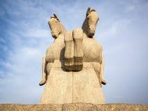 Das Bandeiras-Monument an Ibirapuera-Park, Sao Paulo, Brasilien Lizenzfreies Stockfoto