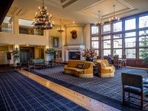 Das Banff Springs Hotel lizenzfreie stockbilder