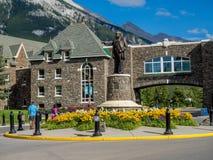 Das Banff Springs Hotel Stockfotos