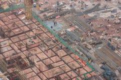 Das Baufeld Lizenzfreie Stockfotos