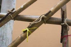 Das Baugerüst des Bambusses Lizenzfreie Stockbilder