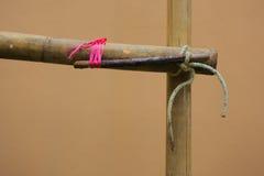 Das Baugerüst des Bambusses Lizenzfreie Stockfotografie