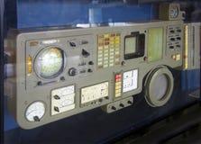 Das Bedienfeld des ersten Soyuz-Raumfahrzeugs lizenzfreies stockfoto