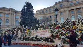 Das Begräbnis von König Michael von Rumänien Stockfotografie