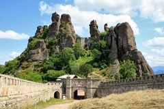 Das Belogradchik-Felsenwunder stockfotos