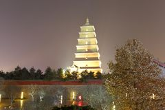 Das berühmte dayanta Turmnachtsichtgerät im Winter, luftgetrockneter Ziegelstein rgb Lizenzfreie Stockbilder