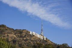 Das berühmte Hollywood-Zeichen Stockbilder