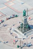 Das berühmte Monument zum Polieren von Dichter Adam Mickiewicz auf dem Haupts Stockfotografie