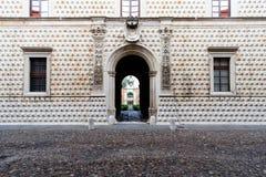 Das berühmte Palazzo-dei Diamanti in Ferrara, Italien Stockfotografie