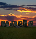 Das berühmte Stonehenge in England Lizenzfreies Stockbild