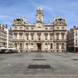Das berühmte Terreaux-Quadrat in Lyon-Stadt Stockbild