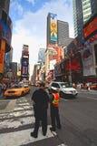 Das berühmte Times Square Stockfotos