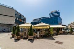 Das berühmteste Restaurant 'Trcika 'in der Mitte von Novi Sad lizenzfreie stockfotografie