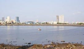 Das berühmte Marinelaufwerk von Mumbai, Indien. Stockfotos