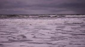 Das Beruhigen bewegt auf die Pazifikküste wellenartig stock video