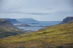 Das beste Wandern in Island Stockbild