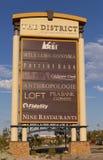 Das Bezirkszeichen an der grünes Tal-Ranch in Las Vegas, Nanovolt auf Augu Stockfotografie