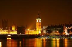 Das Big Ben nachts Lizenzfreies Stockbild