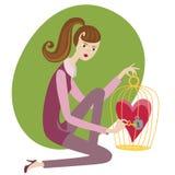 Das Bild auf Valentinsgrußtagesliebe und -verhältnissen Stockfotos