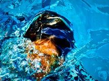 Das Bild bildete sich durch das Wasser lizenzfreies stockfoto