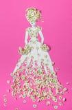Das Bild der Braut mit Blumen Stockfotografie