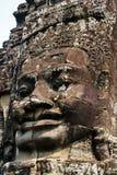 Das Bild des menschlichen Gesichtes in Angkor Wat in Vietnam lizenzfreie stockfotografie