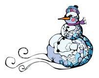 Das Bild eines Schneeballs. Stockbild