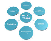 Das Bild ist Show das Mitglied der HACCP-Teamart 2 Stockbilder