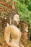 Das Bild von Buddha und von Ruinen Lizenzfreies Stockfoto