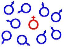 Das Bild von einem roten weiblichen Symbol. vektor abbildung