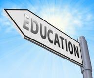 Das Bildungs-Zeichen-Anzeigen lernen Unterrichtungsillustration 3d Stockfoto