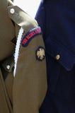 Das Blau und die Royals - Haushalts-Kavallerie und blaue Uniform Stockfotografie