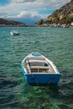 Das blaue Boot Stockfoto