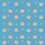 Das blaue liebe Muster mit Süßigkeit und Sternen Lizenzfreie Stockfotografie
