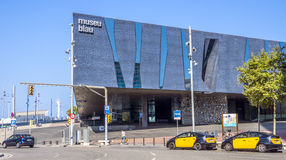 Das blaue Museum von Barcelona Stockfoto