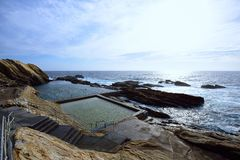 Das blaue Pool, Bermagui Stockfotos