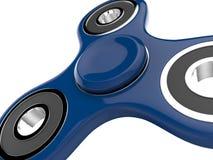 Das blaue Unruhe SPINNER-Druckentlastungsspielzeug auf Weiß lokalisierte Hintergrund Abbildung 3D Stockbild
