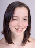 Das blinkende Mädchen Stockfoto