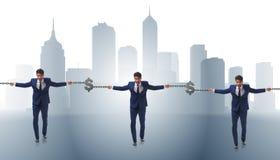Das blockchain Konzept mit dem Geschäftsmannhändchenhalten Lizenzfreies Stockfoto