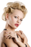 Das blonde mit Schmucksachen Lizenzfreie Stockfotos