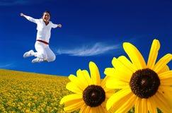 Das Blumen-Mädchen Stockfotos