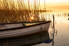 Das Boot angekoppelt auf dem Plattensee Lizenzfreie Stockbilder