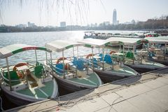 Das Boot im Park stockbild