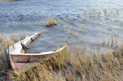 Das Boot im See Lizenzfreies Stockbild