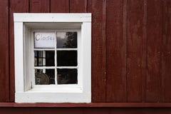 Das Bootshaus ist geschlossen Stockbilder
