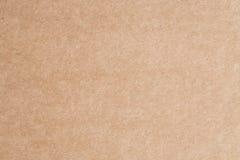 Das braune Papier ist leerer, abstrakter Papphintergrund Lizenzfreie Stockfotografie