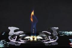 Das brennende Erdgas Stockfotografie